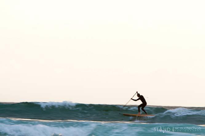 Norm Hann, paddling at Hakai