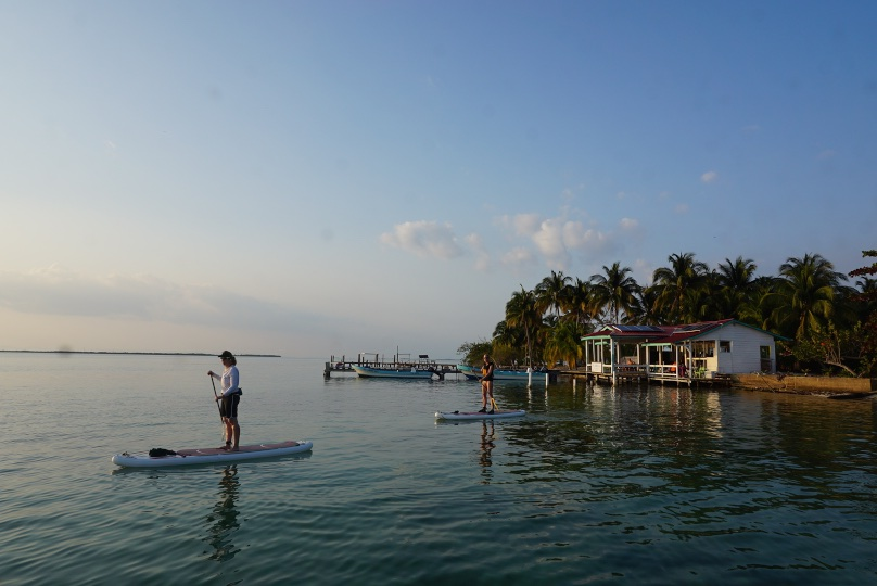 PADDLING FROM SOUTHWATER TO CARRIE BOW CAYE